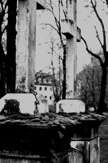 Black & White Grave Graveyard Beauty Graveyard Collection Groom Morbid Morbidity Abandoned Architecture Black And White Photography Blackandwhite Built Structure Close-up Damaged Decline Deterioration Gravestone Graveyard Nature Strikes Back No People Obsolete Old Old Buildings Weathered EyeEmNewHere