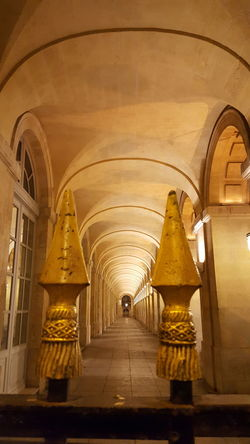 Arch Indoors  Architectural Column Gold Colored No People Architecture Yellow Night Lights Night Shot Night Illuminated Travel Destinations Grand Théâtre De Bordeaux Another Angle