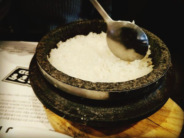 dolsot bap (돌솥밥) aka stone pot rice  EyeEm Selects Stone Pot Rice Flushing, New York Queens World's Fair FlushingFantastic MyFlushing Close-up Food And Drink