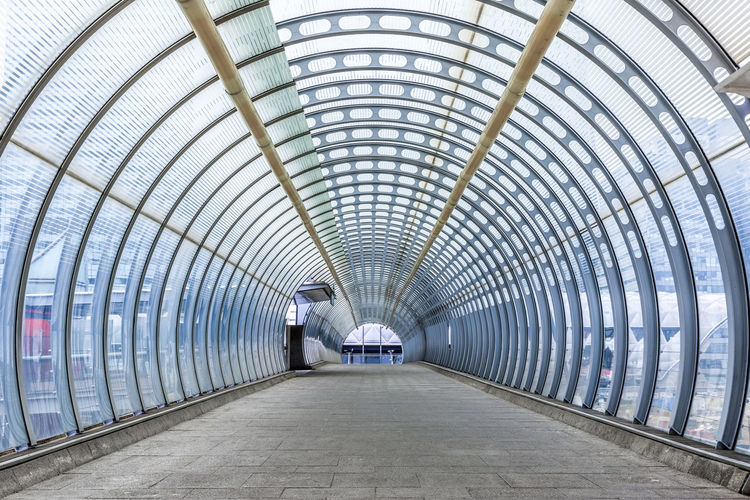 Interior Of Covered Elevated Walkway