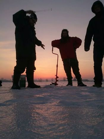 Ice Fishing Fishing Time Having A Great Time
