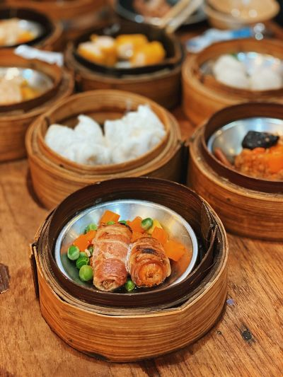 Close-up of food on table