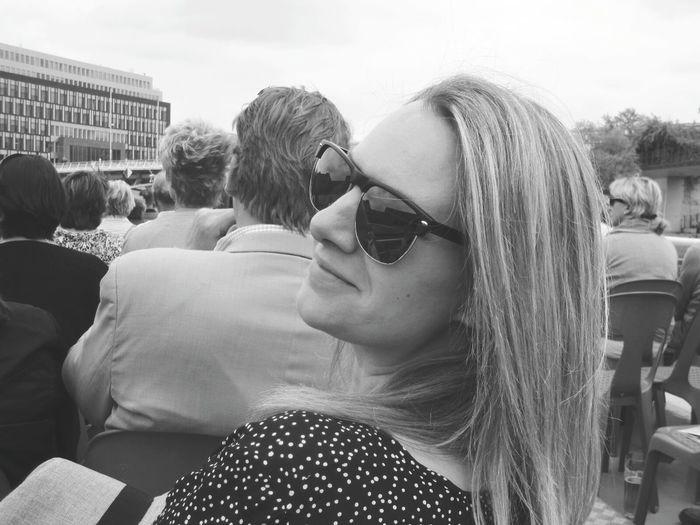 Schwarz & Weiß Black & White Woman Travel Photography Sun EyeEm Best Shots Taking Photos Feel The Journey Stadtansichten City View  Dots Everywhere Blonde Girl Water Spree Spree River Berlin Its Me People