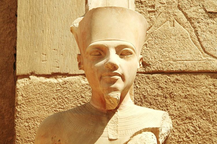Bust  Luxor_temple Egypt Historical Monuments Pharaoh
