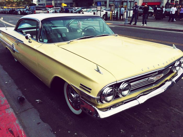 In the streets of SF🇺🇸 Street Yellow Car Travel Destinations Travel Photography USAtrip California San Francisco Chevrolet Old Car Car Transportation Mode Of Transport Land Vehicle Street Day Road Outdoors Stationary City Close-up California Dreamin Vintage Car Side-view Mirror Vehicle Headlight Collector's Car Street Scene Parking White Line Vehicle Light