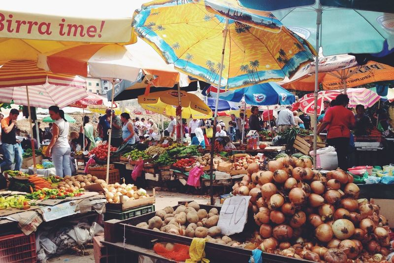 Albania Openair Market Fruitmarket Tirana
