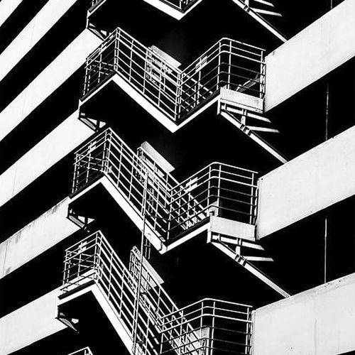 Built Structure Steps And Staircases Architecture Staircase Steps Railing Building Exterior Low Angle View Stairs No People Spiral Stairs Day Outdoors City Thailand Luxurylifestyle  Stairs Bangkok Black & White MBK Center (เอ็ม บี เค เซ็นเตอร์) Fire Escape Urban Bangkok Thailand.