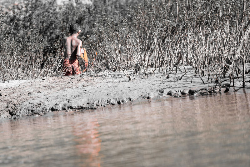 Check This Out Enjoying Life Monk  Mekong Mekong River Orange Selected Color Selective Focus Selective Color Original Experiences