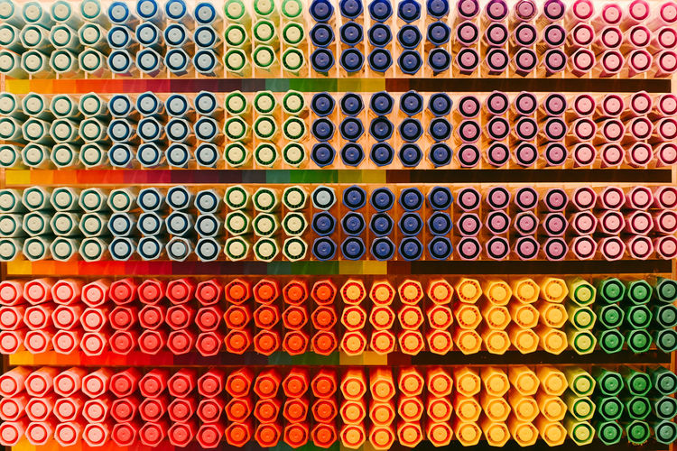 Magic color pens on shelf multi color concept. Multi Colored Large Group Of Objects Abundance Arrangement In A Row Full Frame No People Indoors  Order Backgrounds Still Life Side By Side Pen Pencil Majic Abstract Art Artiatic Beauty In Nature Bright Color Portrait Color Pencil Colorful Graphic Illustration