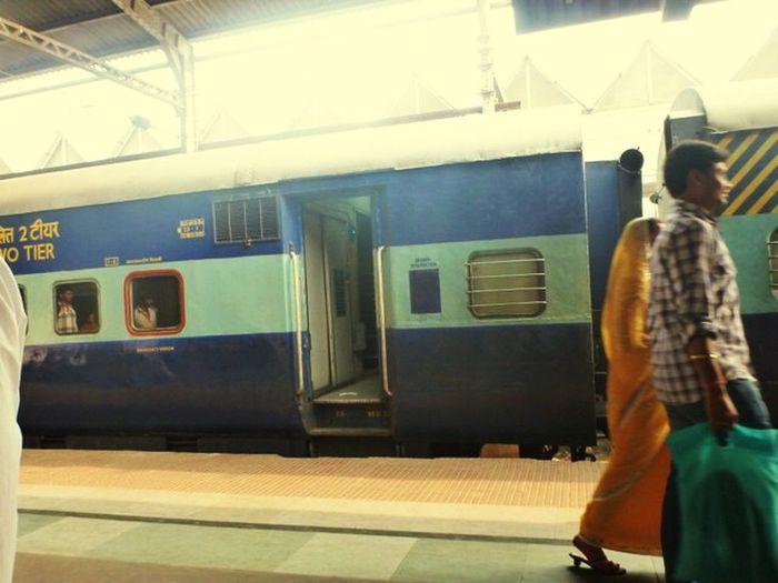Station of Calcutta - train and Memories Calcutta