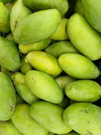 green mango Healthy Lifestyle Supermarket Dieting Fruit Close-up Green Color Food And Drink Raw Food Tropical Fruit