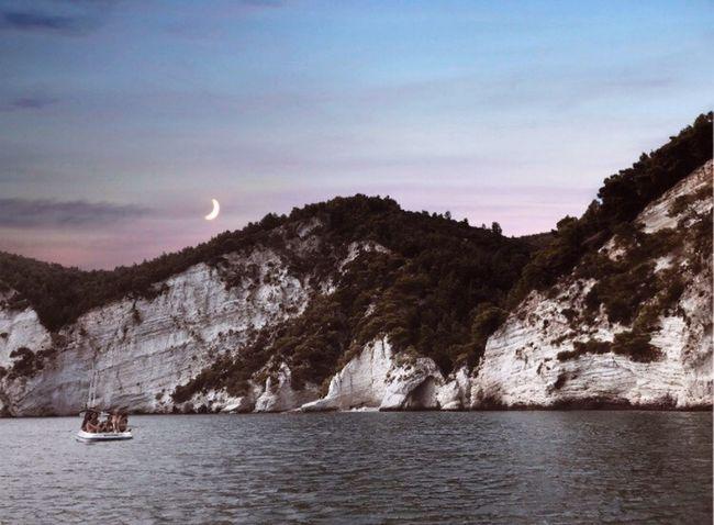 Sea Moon Pink Tramonto Vieste Puglia First Eyeem Photo