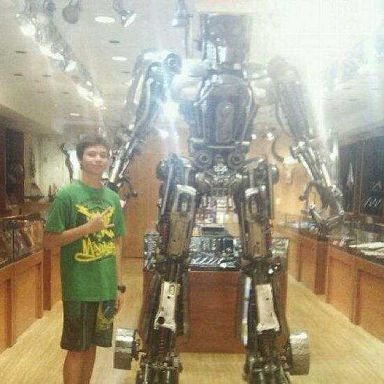 It is me and Optimus prime The defenders of planet earth! Lol Autobots Badboys