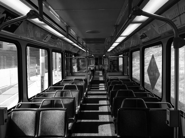 Transportation Vehicle Interior Mode Of Transport Public Transportation Vehicle Seat Train - Vehicle Travel Commuter Train Rail Transportation Indoors  Subway Train Train Interior No People Day Horizontal Lines Check This Out