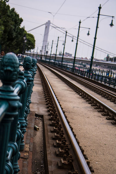 Bridge Budapest City EyeEmNewHere No People Not Straight Public Transportation Rail Rail Transportation Travel