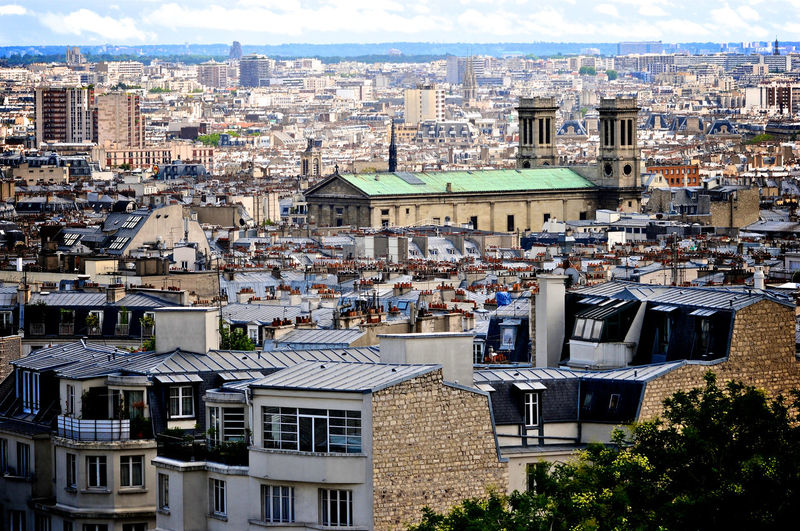 City Cityscape Elevated View No People No People, Outdoors Paris Residential District Travel Destinations