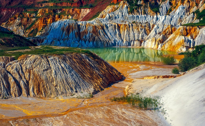 Abandoned kaolin quarry Abandoned & Derelict Abandoned Places Kaolin Lake Kaolinite Pit Abandoned Beauty In Nature Day Kaolin Landscape Mountain Nature No People Outdoors Physical Geography Rock - Object Rock Formation Scenics Tranquil Scene Tranquility Travel Destinations Water