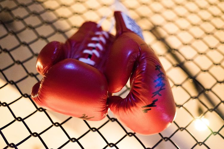 Close Up Of Boxing Gloves