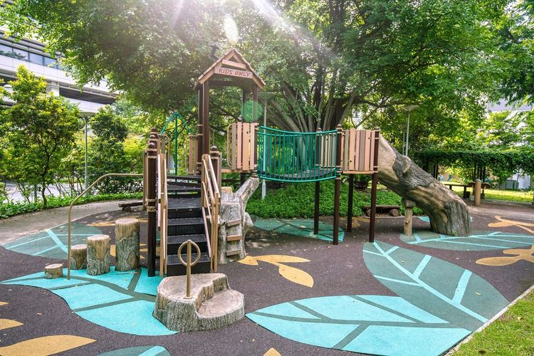 The Forest themed Playground in Rumah Tinggi Eco Park in July 2018. Here we have a bit of sunlight flashing down. Forest Playground Public Park Themed Playground No People Outdoor Play Equipment Outdoors Public Places Public Playground Sunlight