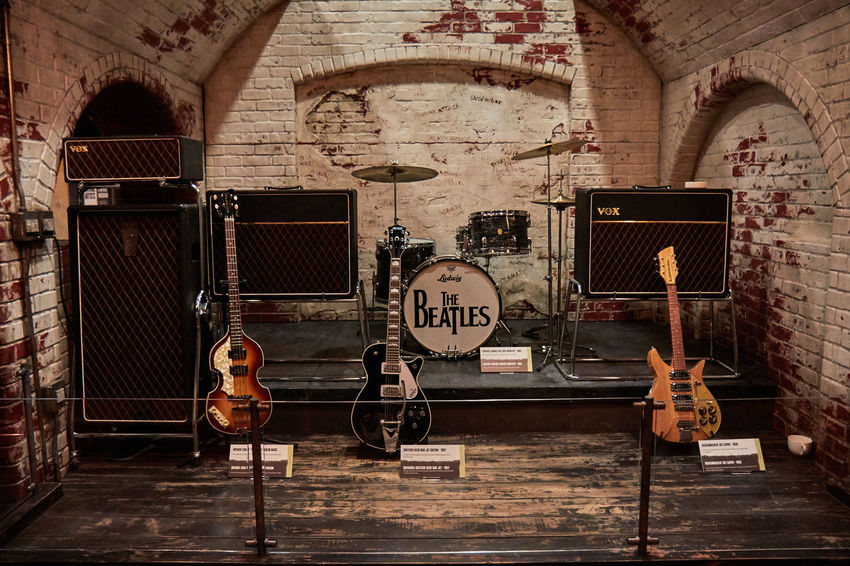 2016 Arch Band Bass Guitar Bricks Drums Guitar Amplifier Guitars Henry Ford Musem Ludwig Museum Music No People Rock And Roll The Beatles The Magical History Tour Vintage