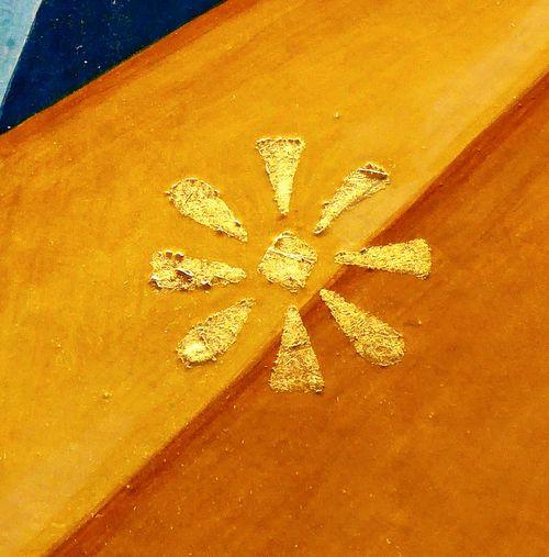 star symbol art Detail Art, Drawing, Creativity Art Detail ArtWork Art Esoteric Art Esoteric Symbolism Symbol Star Yellow Sand Beach Full Frame High Angle View Paint Textured  Star Shape Close-up Starry Logo Religious Symbol Insignia Icon Handwriting  Seashell