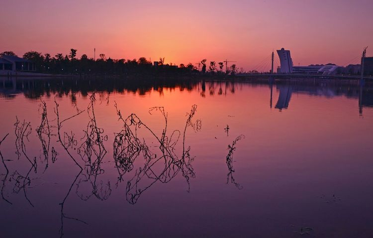 Sunset Water Lake Sky Sun Nature Outdoors Beauty In Nature