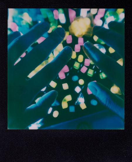 Close-up Colorful Detail Film Film Photography Hands Human Finger Human Hand Impossible Project Indoors  Lite Brite Multi Colored Polaroid Slr 680