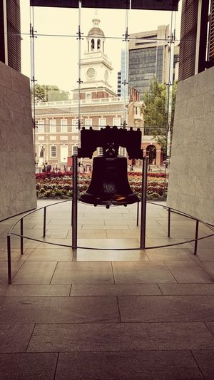 Let freedom ring. LIBERTY BELL City Chair Sky Architecture Built Structure