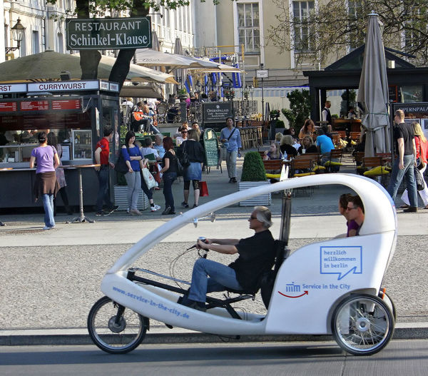 A pedal taxi - Berlin A Taste Of Berlin Berlin Market Pedal Taxi Restaurants In Berlin Adult Architecture Building Exterior Built Structure City Currywurst Day Land Vehicle Large Group Of People Leisure Activity Lifestyles Men Outdoors People Real People Road Street Togetherness Women Berlin Love #FREIHEITBERLIN #urbanana: The Urban Playground