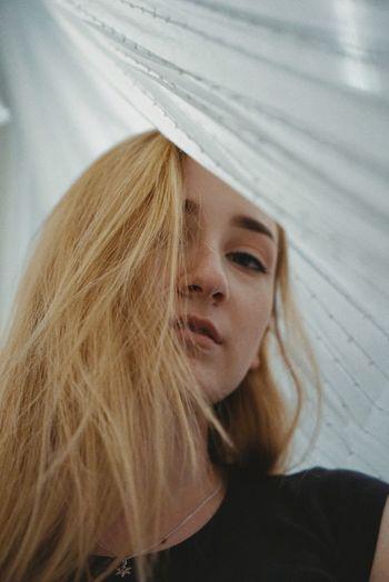 Through the curtain lies a star Hair Headshot Portrait One Person Long Hair Blond Hair The Portraitist - 2018 EyeEm Awards