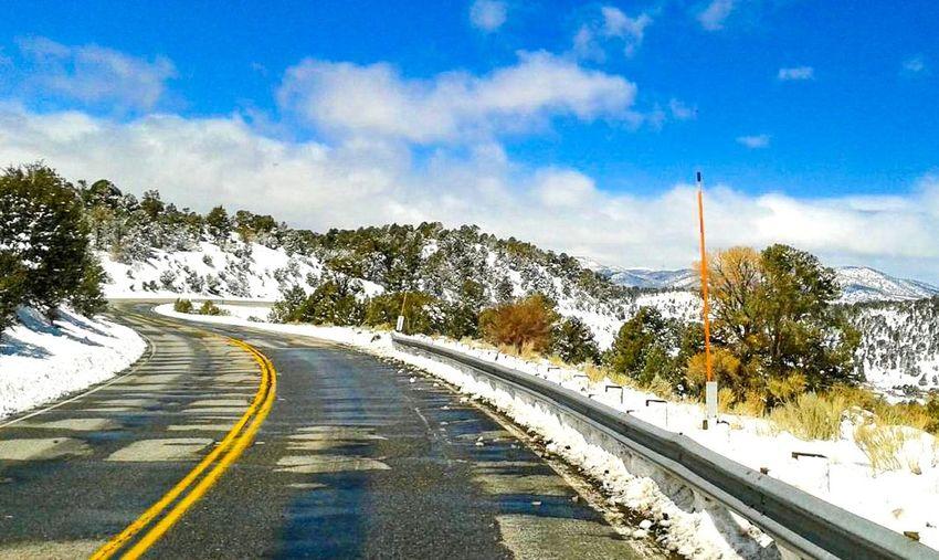 Big Bear Mountain Mountain White Color Nature Travel Destinations Landscape Snow Sky Road Tree Day Cloud