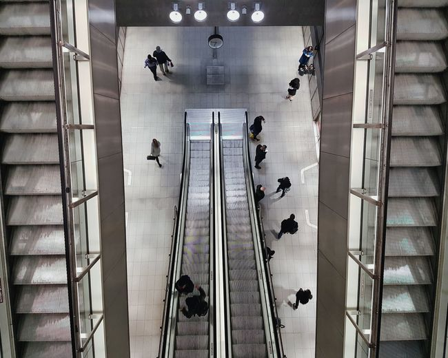 Metro Indoors  Modern Architecture Copenhagen City Taking Photos Copenhagen, Denmark Night Colors and patterns Pattern Shape Shapes Dramatic Angles Metro Station Metro Mobilephotography View From Above Symmetry Symmetrical Escalators Escalator Cool Tones Cold Cold Colors Beautifully Organized Your Ticket To Europe The Street Photographer - 2018 EyeEm Awards