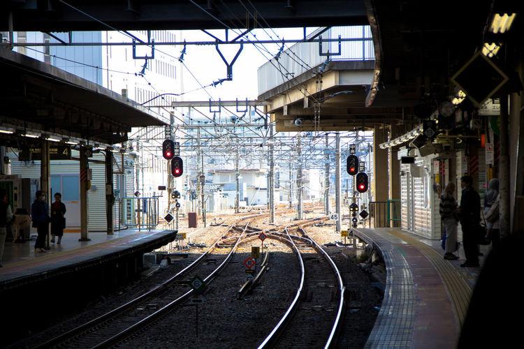 Japan Railway Building Exterior Public Transportation Rail Transportation Railroad Station Platform Railroad Track Train - Vehicle Transportation