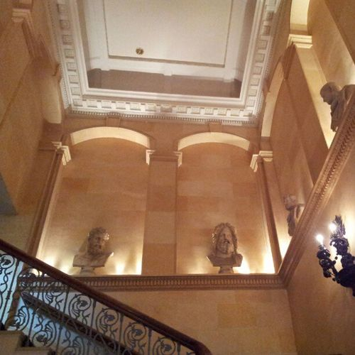 Leeds Oultonhall Staircase statues Handcarved Wedding Reception