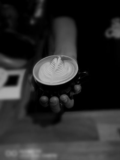 Coffee ☕ Spike Flower Photoattempt Colombian Coffee Latte Art