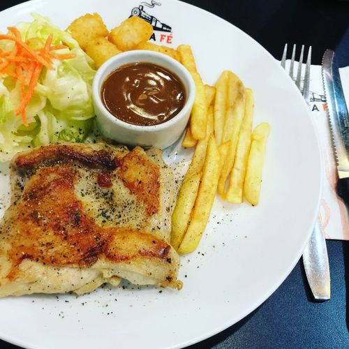 Plate Food Ready-to-eat Chickensteak