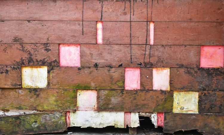 Old wooden wall with colorful ornament Abandoned Broken Color Colorful Faded Grunge Mould Neglected Old Painted Pale Pastel Pastel Colors Pastel Power Pastels Thailand Vintage Wall Wooden