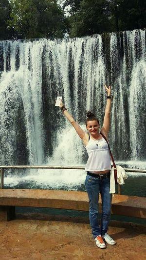 Waterfall One Person Childhood Beutiful City Nature Me :)  Lovelife Jajcewaterfall Bosna ♡ Bosnia And Herzegovina