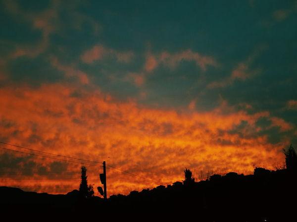 Alagadi Taking Photos Hello World Sunset Mountains And Sky orange clouds 🍊