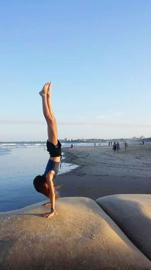Handstands kids beach girl teenager fun outdoors ocean sand travel Relaxing Taking Photos Check This Out Hanging Out Enjoying Life Young Wild And Free(; Kids Being Kids Beautiful Nature Natural Beauty Beautiful Girls