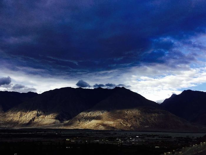 View from the hotel in Nubra valley..
