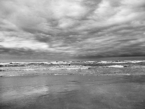 Mar.. Sea Relaxing Beach Photography Black & White