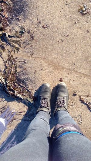 Beach Sand Robin Hoods Bay Feet In The Sand Knee Injury Timberland Timberlands Timberland Boots Legs Female Women's Legs Seaweed Footprints In The Sand A Bird's Eye View