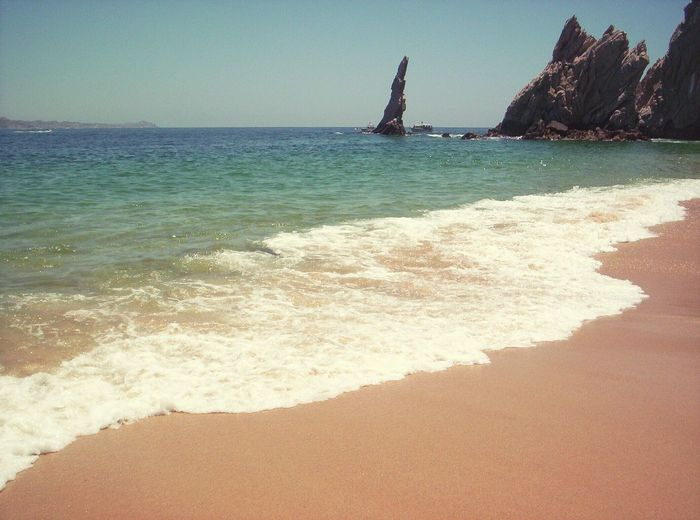 Sea Beach Sand Water Sunlight Tranquility Horizon Over Water Travel Destinations Outdoors Sky Scenics Vacations Day Clear Sky Nature Wave No People Beauty In Nature EyeEmNewHere Mexico Cabo San Lucas CaboSanLucas Loversbeach Lovers Beach