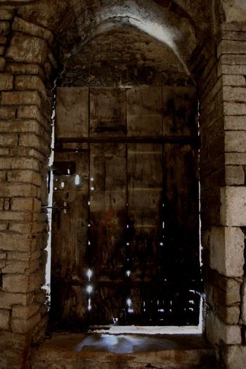 Door at 12th-century Saint-Pierre Church, Brancion, Burgundy, France Medieval Canon Light And Shadow Darkness And Light
