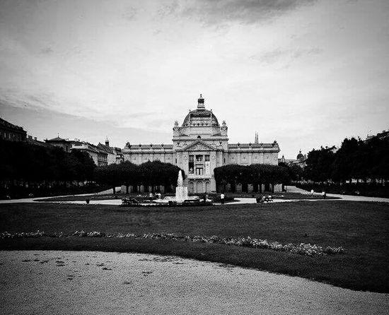 Zagreb Croatia Hrvatska Black And White Black & White Black And White Collection  Black And White Architecture Architecture Wide Angle