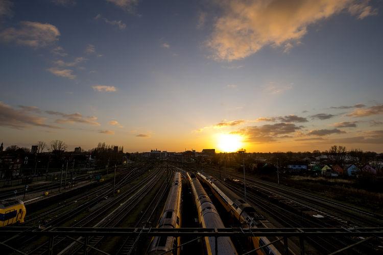 Railway capture at sunset