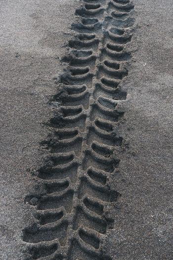 Full frame shot of tire on beach