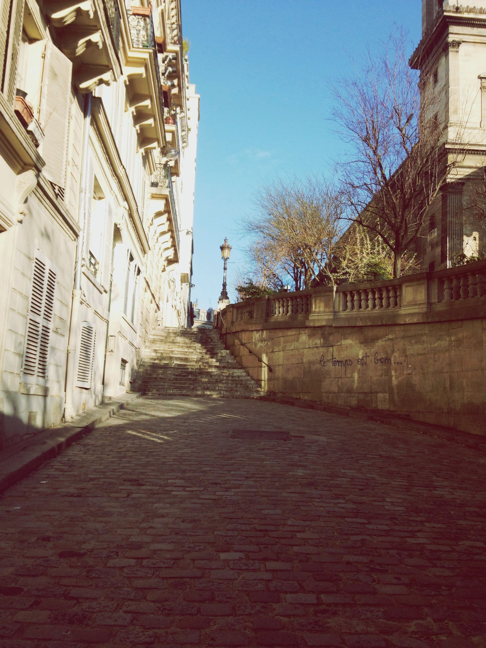 architecture, building exterior, built structure, the way forward, diminishing perspective, cobblestone, vanishing point, street, walkway, building, footpath, city, sky, residential structure, house, long, pathway, empty, narrow, outdoors