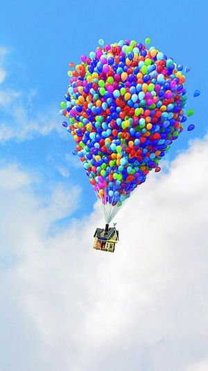 Up Balloons Clouds And Sky House Air Traveling Dreaming Followback Like Bestoftheday